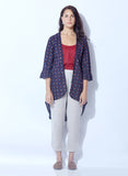 Stylish Shrug with solid inner