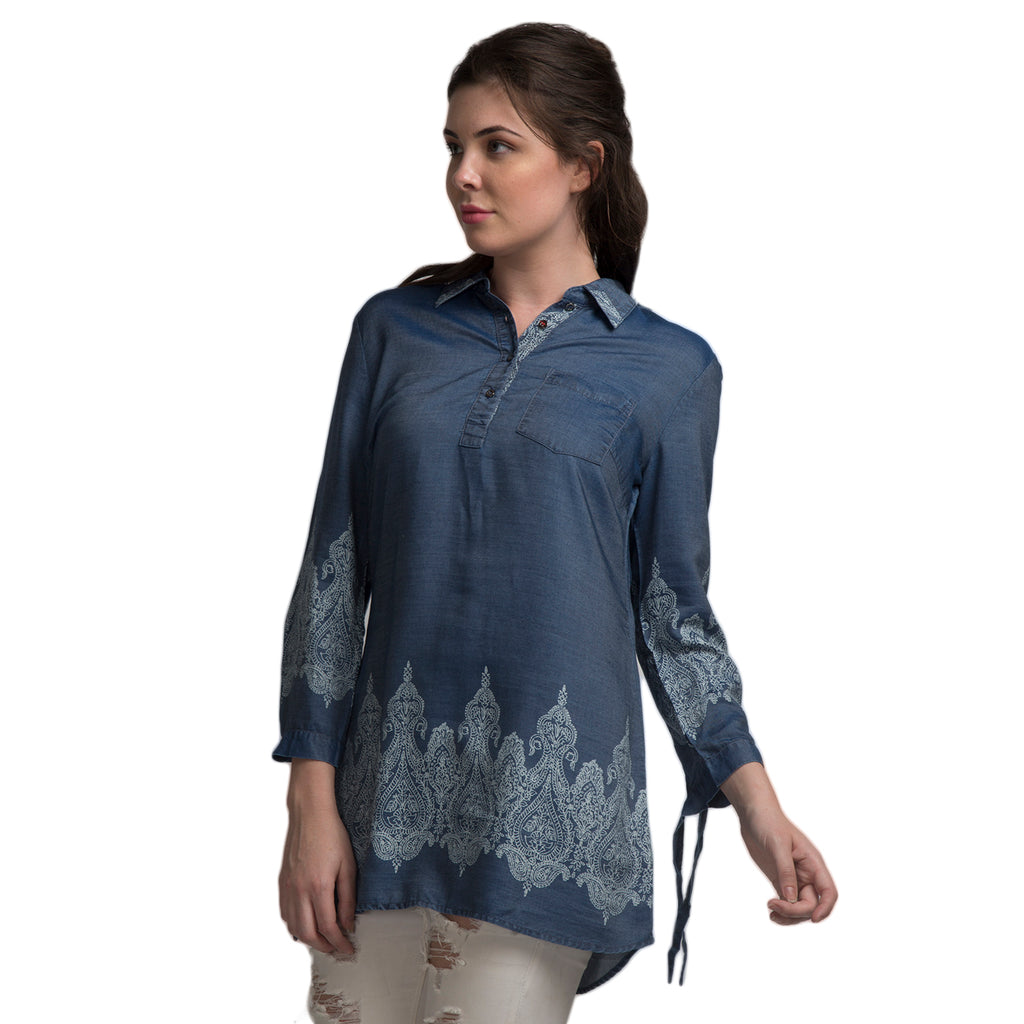 All-Over Placement Print Tunic