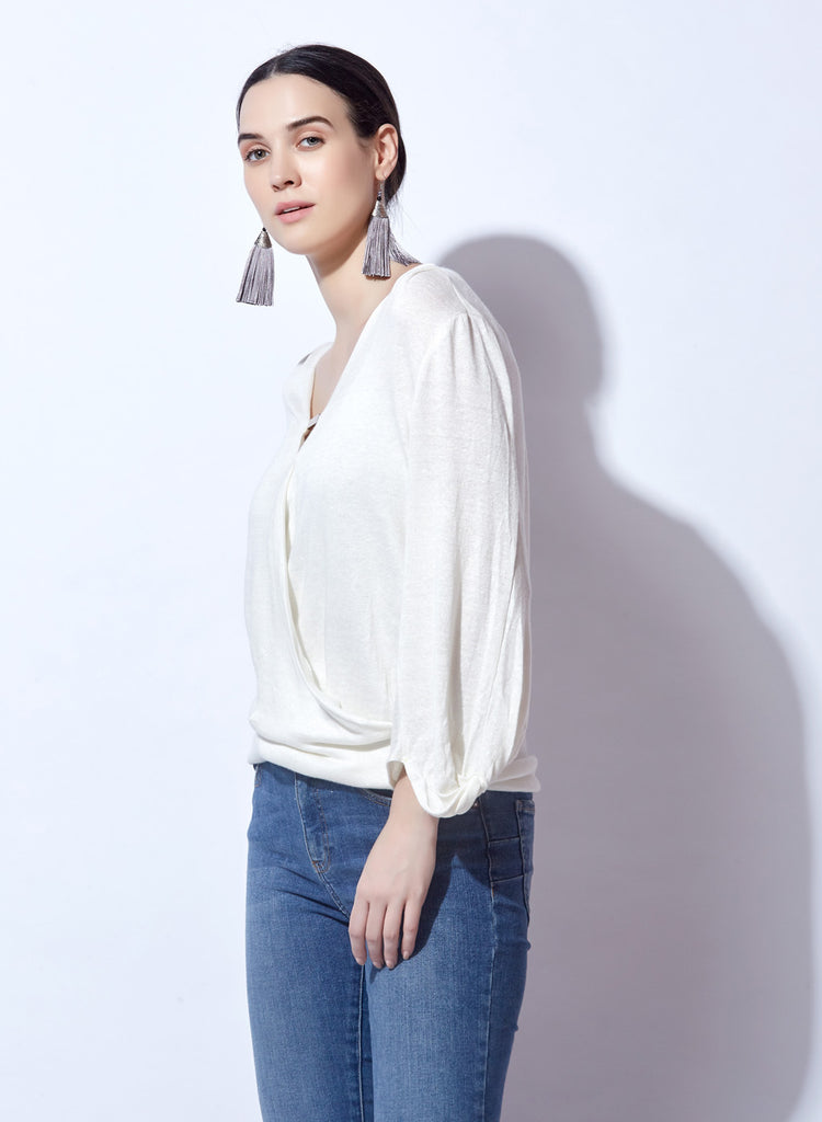 Basic top with button front