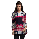 Digital Print Half Placket Basic Tunic