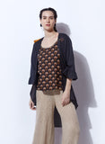 Stylish Shrug with printed inner