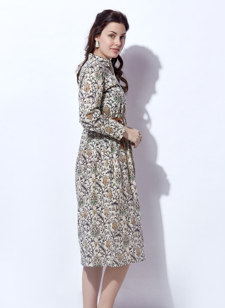Floral Print shirtdress with belt