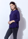 Purple Top With Lace Detail