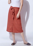 Red Skirt With Tie Up