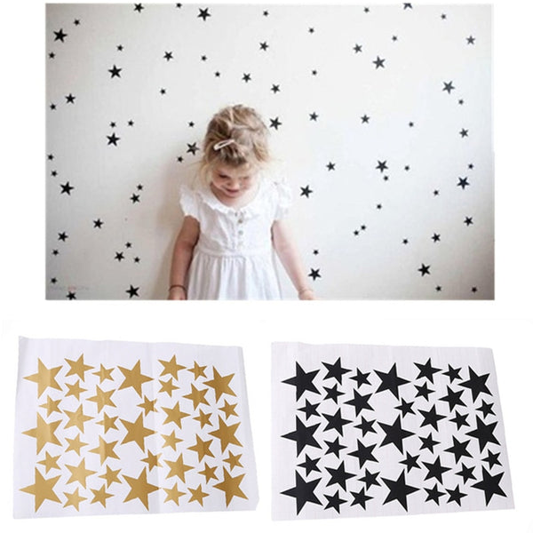 Star Pattern Wall Decals (39 pcs),Wall Stickers - I Heart Walls