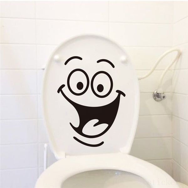 Humorous Bathroom/Toilet Decals,Wall Stickers - I Heart Walls