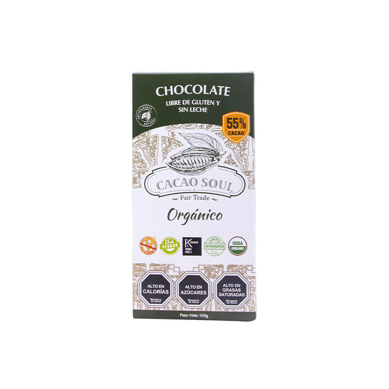 Barra de Chocolate 55% Cacao