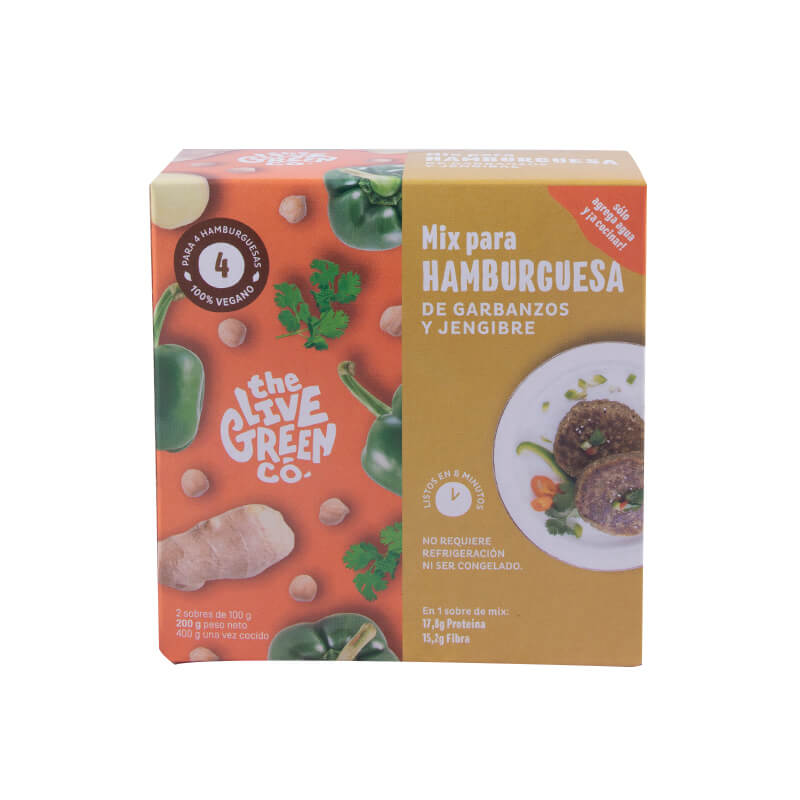 Burger Mix Garbanzos y Jengibre