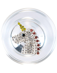Crystal Delights - Unicorn Delight Butt Plug - Glass Butt Plug with Removable Medallion