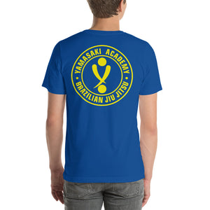 Yamasaki Simple Logo with Logo on Back Short-Sleeve Unisex T-Shirt
