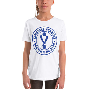 Yamasaki Logo Blue Youth Short Sleeve T-Shirt
