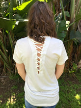 Load image into Gallery viewer, LAGACI Super Soft Tee With Interwoven Back Detail