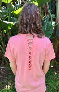 LAGACI Super Soft Tee With Interwoven Back Detail