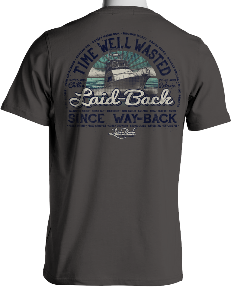Laid Back Flywheel Powerboat-Men's Chill T-Shirt