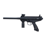 Tippmann Stormer Basic Paintball Gun in Black from the Left Side.
