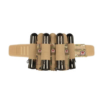 GI Sportz Glide Paintball Harness in Mulitcam with 3 pouched pods and 4 elastic pod slots.
