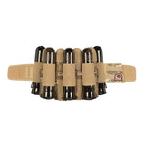 GI Sportz Glide Paintball Harness in Mulitcam with 4 pouched pods and 5 elastic pod slots.