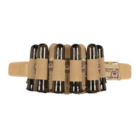 GI Sportz Glide Paintball Harness in Mulitcam with 5 pouched pods and 6 elastic pod slots.