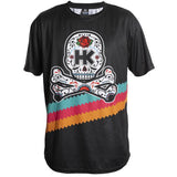 HK Army Dry Fit T-Shirt with a Cinco De Mayo styled logo on Black Fabric - Front