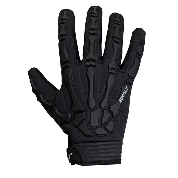 Exalt Full Finger Death Grip Gloves Black Back