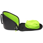 Open photo of Exalt V3 Universal Goggle Case with Black Carbon Exterior and Lime High-pile microfiber interior.