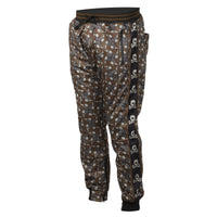 HK Army Jogger Pant Hostlewear Skulls Brown Quarter