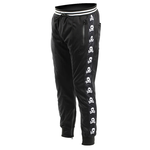 HK Army Track Jogger Pants in Black with OG Skull logo down the side