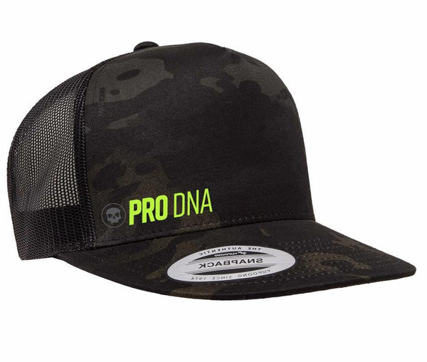 Infamous Paintball Classic Trucker Hat - Black mesh with Multicam front panel and brim