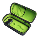 Exalt Paintball Loader Case with Black Carbon Exterior and Lime ultra soft high-pile microfiber lining open to show the interior of the Case.