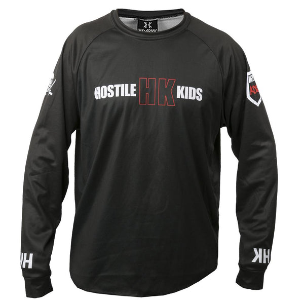 HK OF DryFit Long Sleeve Shirt Black Front