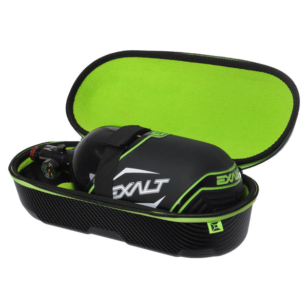 Interior Shot of Exalt Tank Case with Black Carbon Exterior, and Lime ultra-soft high-pile microfiber lining. Tank not included.