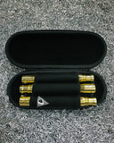 Dye MVP Barrel Kit in Polished Gold stored in Protective Ballistic Case