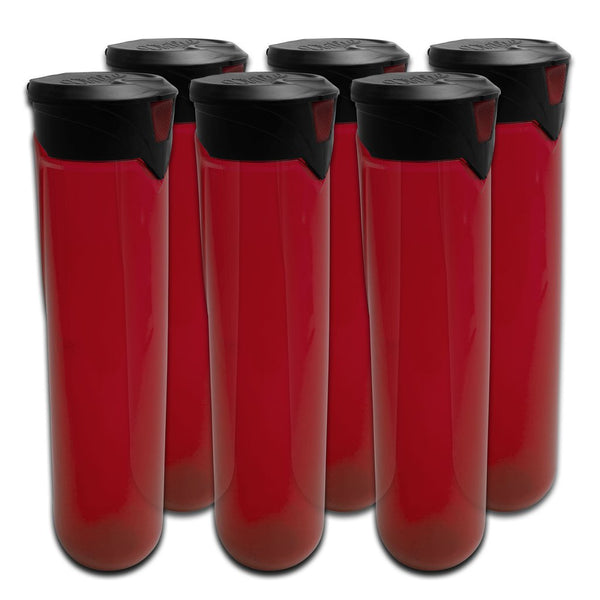 "Virtue PF165 ""Press Flick"" Locking Lid Paintball Pods - Red 6-Pack"