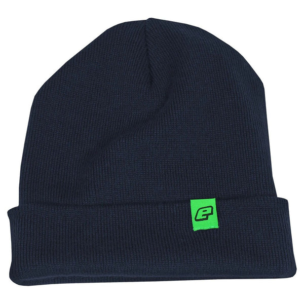 Planet Eclipse Core Cuffed Beanie in Navy Blue with Eclipse Logo Tag in Green