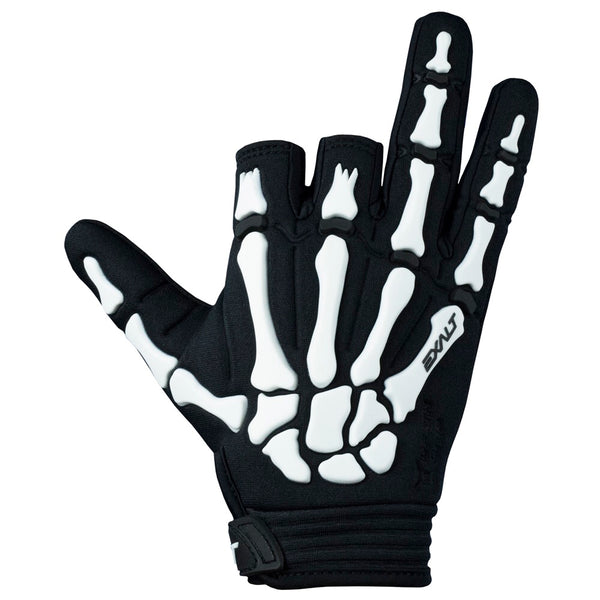 Exalt Death Grip Gloves Black White Back