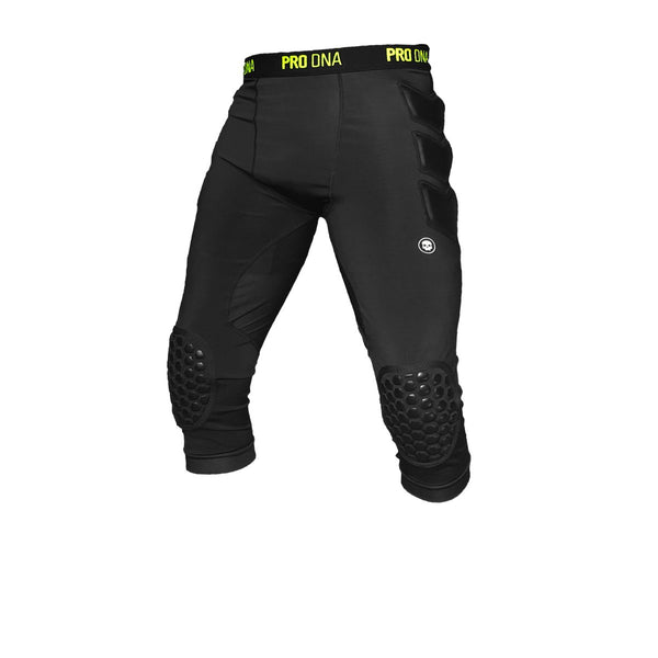 Infamous Paintball Slider Shorts with Knee Coverage in Black with Yellow Logos