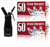 Starter Pack - QuickWhip Cream Chargers – 600 - (12 x 50Pks)  & 0.25L SupremeWhip Dispenser Black