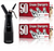 Starter Pack - QuickWhip Cream Chargers – 600 - (12 x 50Pks)  & 0.5L SupremeWhip Dispenser Black