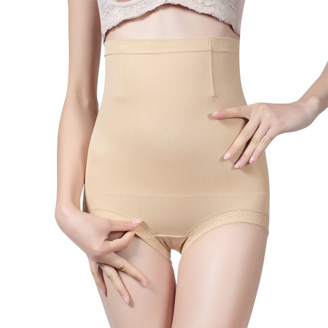 e9875343b NINGMI Women Control Panties High Waist Trainer Slimming Pant Sexy Underwear  Bodysuit Body Shaper Seamless Shapewear