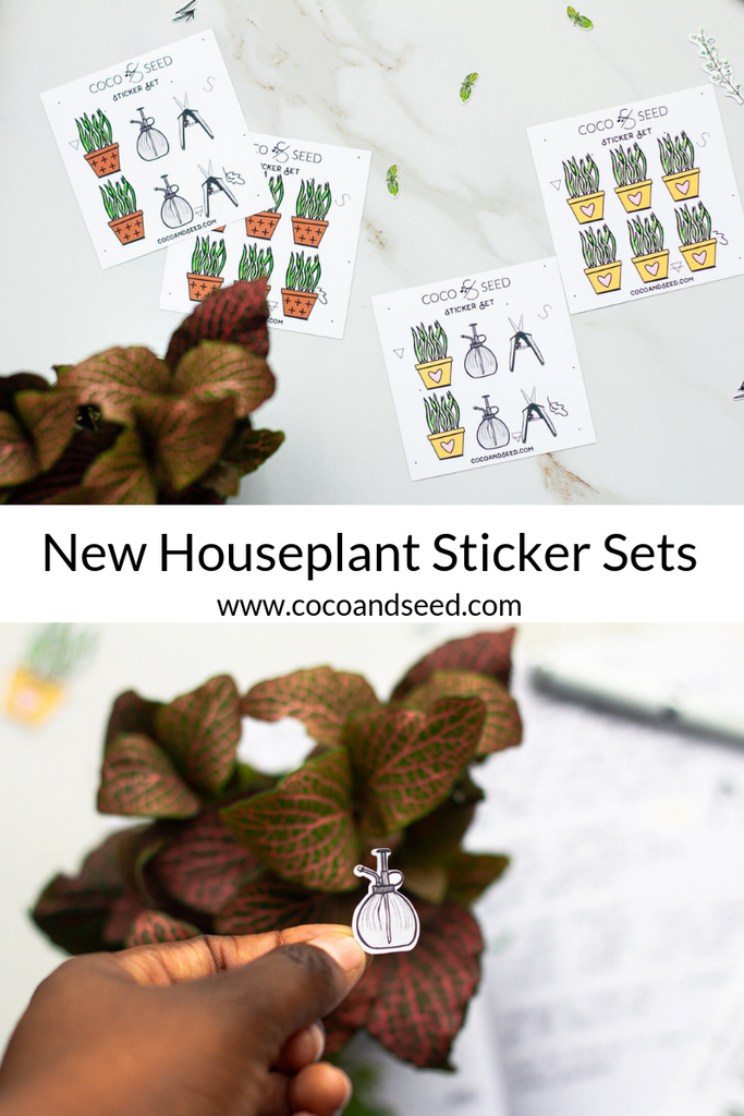New House Plant Stickers