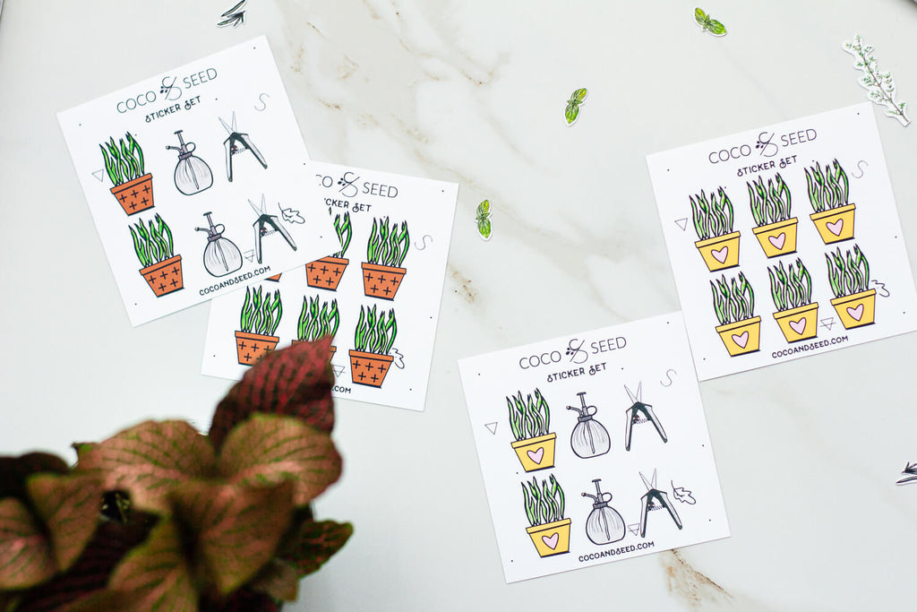 House Plant Sticker Set