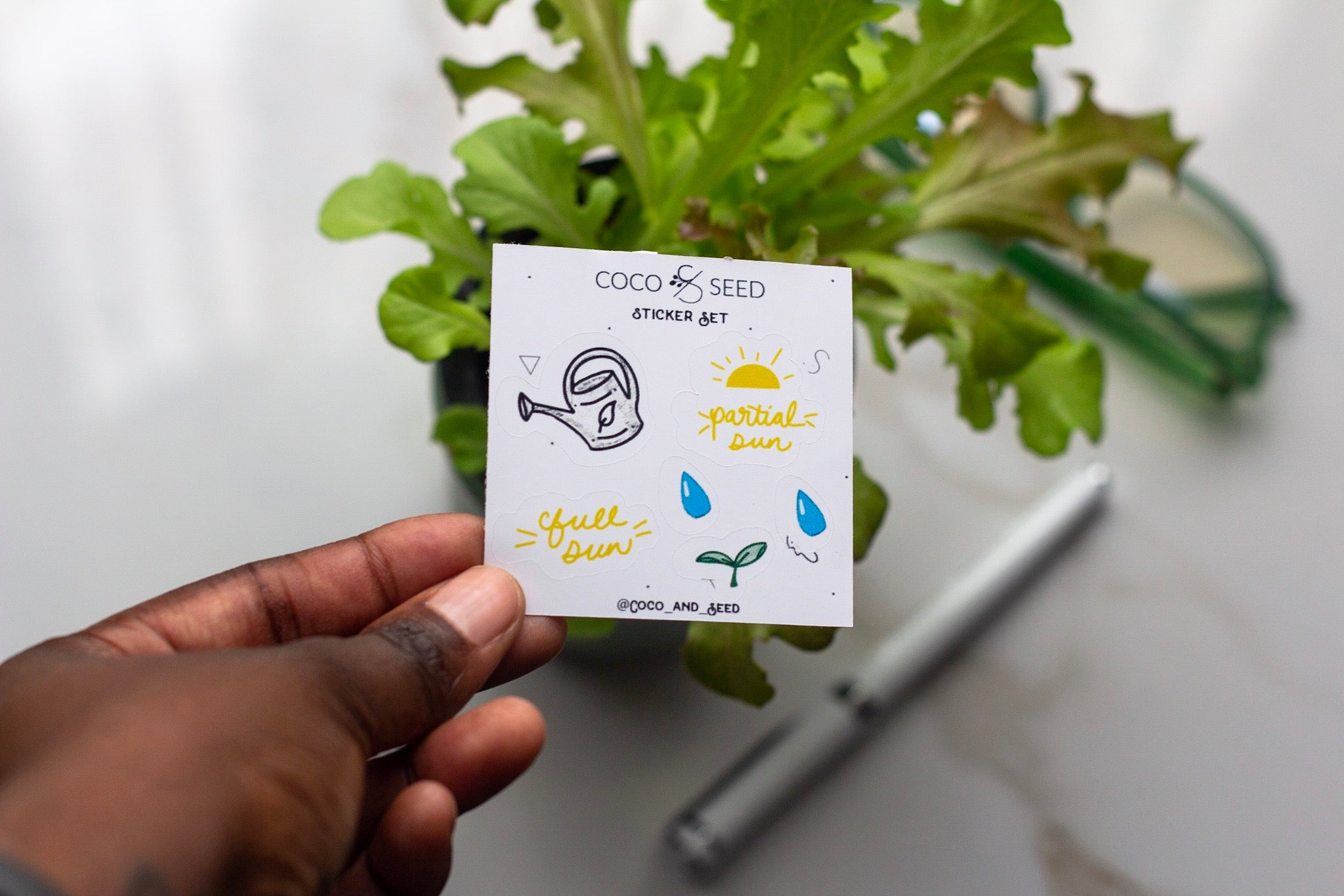 Garden Mini Sticker Illustration