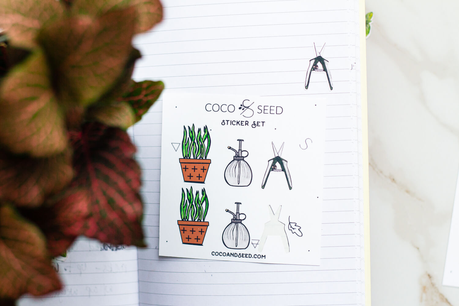 Pattern Houseplant Variety Sticker Set