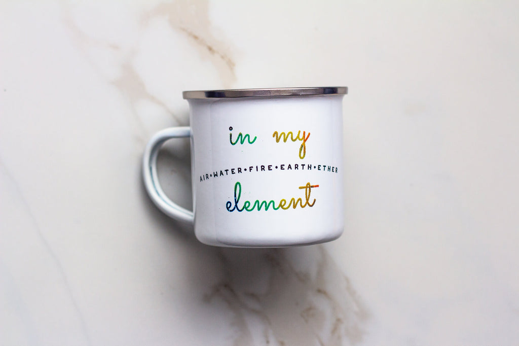 Minimalism In My Element Enamel Mug