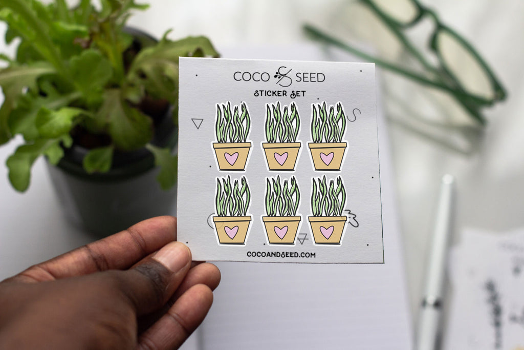 Heart Houseplant Sticker Pack