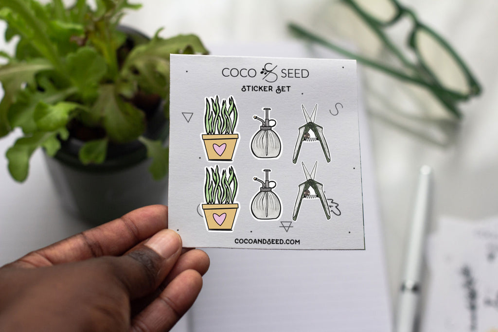 Houseplant Variety Sticker Set