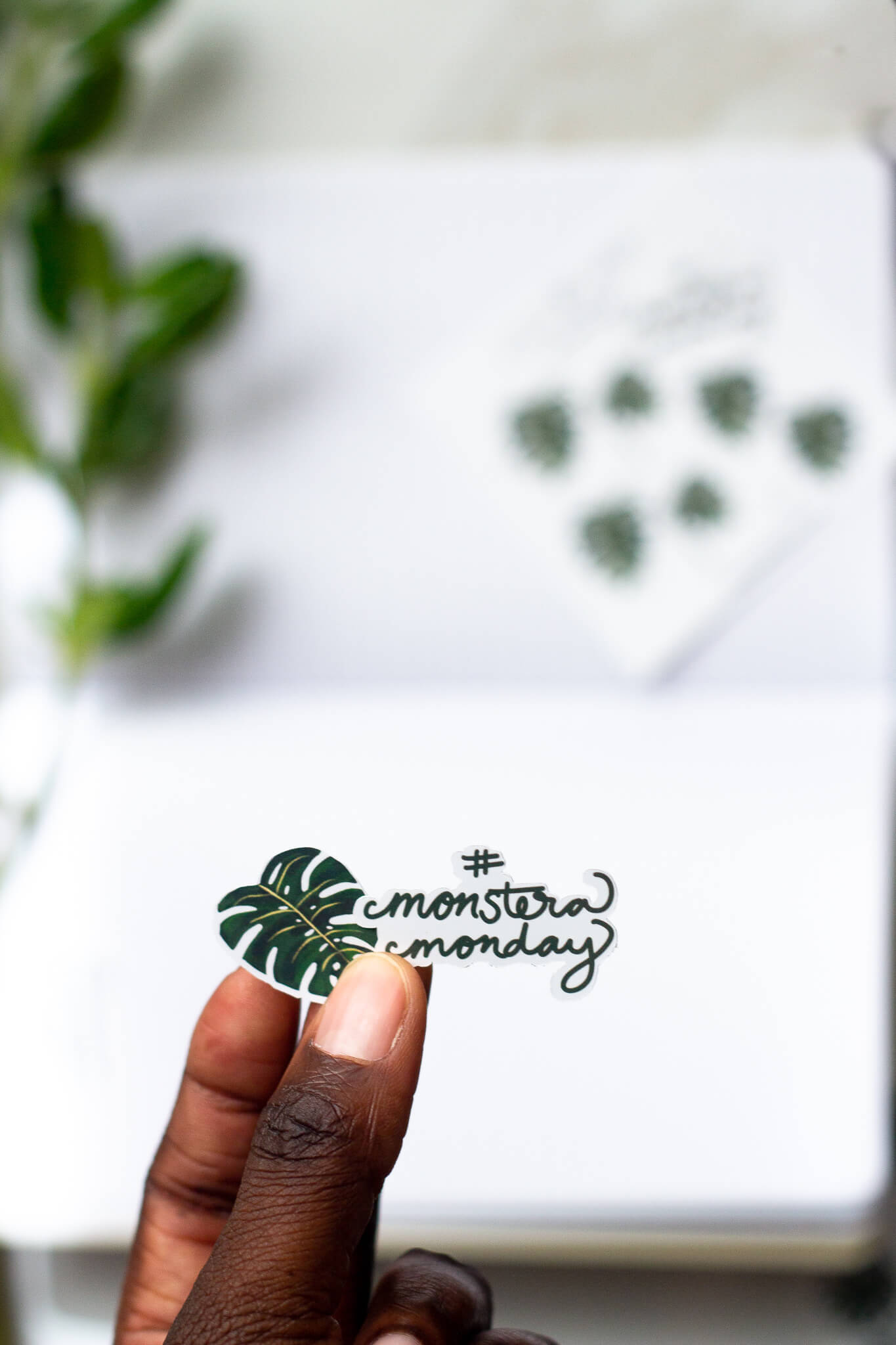 Monstera Houseplant Journal Sticker Pack