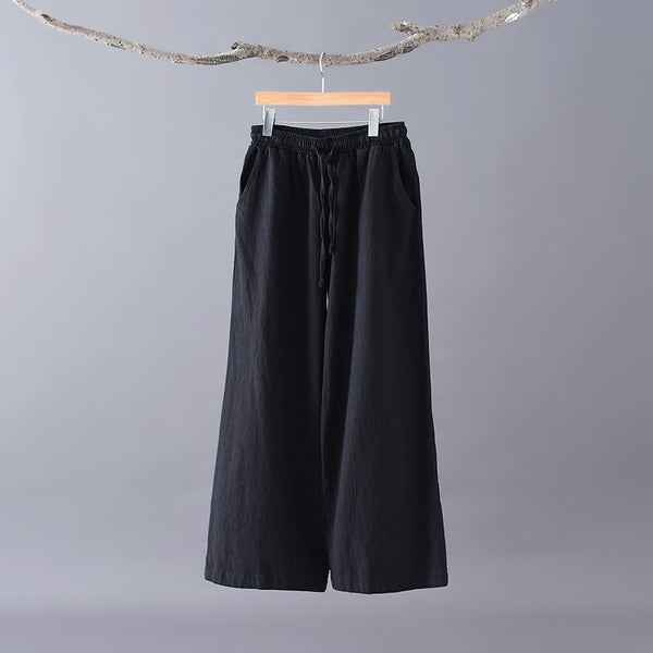 2020 WINTER NEW! Women Casual Style Linen and Cotton Wide Leg Pants