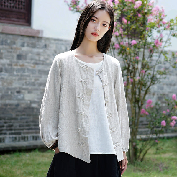 2020 WINTER NEW! Women Retro Style Linen and Cotton Jacket