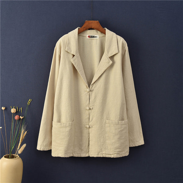 2020 NEW! Women Casual Style Linen and Cotton Jacket
